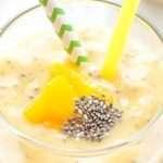 [Recipe] Creamy Vegan Banana Mango Chia Smoothie