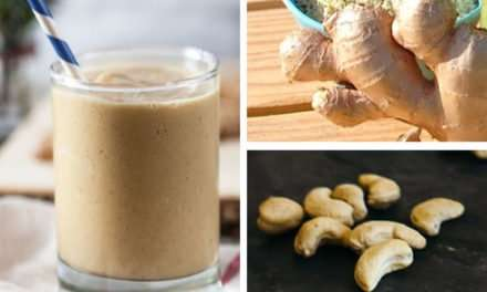 [Recipe] Ginger Cashew Smoothie