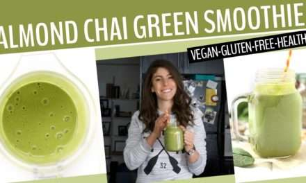 [Video Recipe] Almond Chai-Spice Green Smoothie