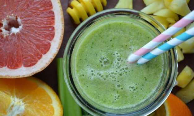 [Recipe] Orange n Pineapple Green Smoothie Just 150 Cals