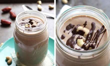 [Recipe] Chocolate Cashew Smoothie from 185 Calories