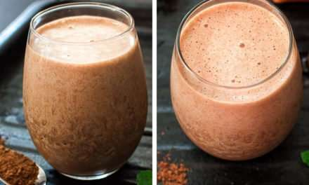 [Recipe] Coffee Mocha Smoothie for less than 130 Calories